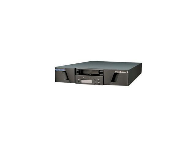 Quantum SuperLoader 3 EC-L2EAA-YF Black 25.6TB 2U Rack Mountable 2 x Ultra 320 SCSI 1 x RJ-45 Ethernet - Network Interface LTO Ultrium 4 Tape Autoloader w/ Barcode Reader
