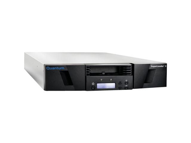 Quantum SuperLoader 3 EC-LLHAE-YF Black 24TB 2U Rack Mountable 6Gb/s SAS 1 x RJ-45 Ethernet - Network Interface LTO Ultrium 5 Tape Autoloader w/ Barcode Reader