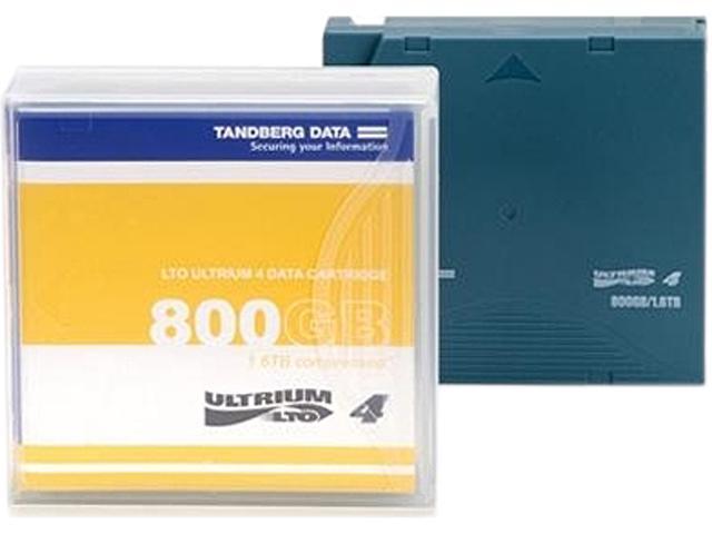 Tandberg Data 433950 LTO Ultrium 4 Data Cartridge with Barcode Labeling