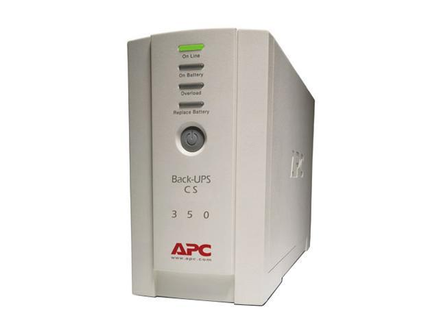 International Version 230V Model of APC-BK350 210 Watts (1) IEC 320 C13 (Surge Protection) (3) IEC 320 C13 (Battery Backup) (2) IEC Jumpers (Battery Backup) Outlets Back-UPS CS 350 USB/Serial European Version - 240V