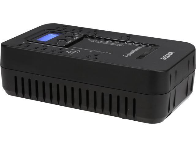 CyberPower EC650LCD ECO 650 VA /390 Watts Energy Efficient LCD Desktop UPS