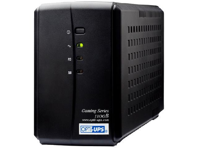 OPTI-UPS Gaming Series GS1100B 1100VA 550W 6 Outlets Line Interactive UPS 6-Outlet USB