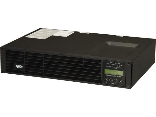 TRIPP LITE SU1000RTXLCD2U 1000 VA 900 Watts On-Line Double-Conversion UPS, 2U Rack/Tower, Interactive LCD display