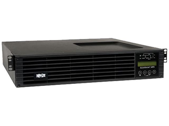Tripp Lite Smart Online 2.2kVA UPS Back Up, Double-Conversion, 120V 1.8kW 2U, Extended Run, Network Card Slot, LCD, USB, DB9 (SU220RTXLCD2U)