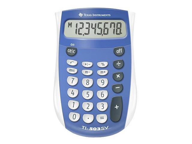 Texas Instruments TI-503 SV Pocket-size calculator with giant SuperView display