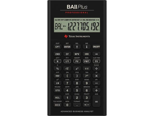 Texas Instruments BAIIPLUSPRO TI BA II Plus Professional Financial Calculator