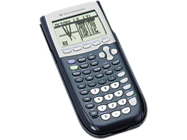 Texas Instruments TI-84 Plus Graphing Calculator 8 Line(s) - 16 Character(s) - Battery Powered - Black, 1 Each