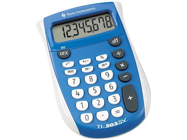 Texas Instruments TI-503SV TI-503SV Pocket Calculator, 8-Digit LCD