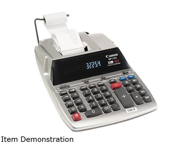 Canon USA MP11DX MP11DX Two-Color Printing Desktop Calculator, 12-Digit Fluorescent, Black/Red
