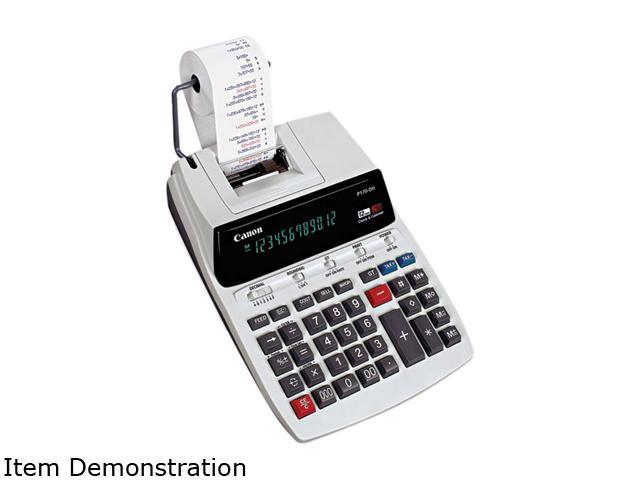 Canon USA P170DH P170DH Two-Color Roller Printing Calculator, 12-Digit Fluorescent, Black/Red