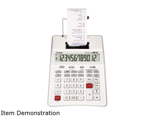 Canon USA P23DHVG P23-DHVG 12-Digit Two-Color Printing Calculator, White