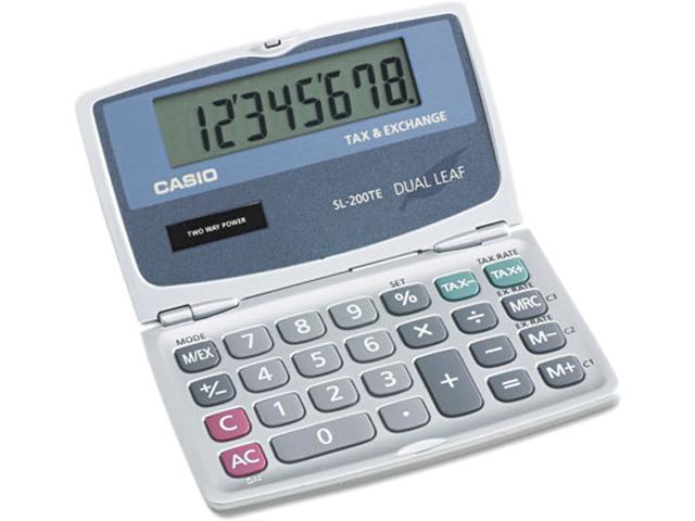 Casio SL200TE SL200TE Handheld Foldable Pocket Calculator, 8-Digit LCD