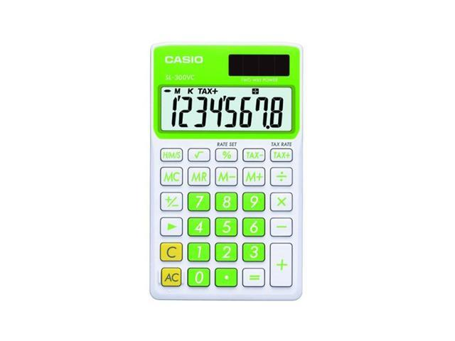 Casio SL-300VC-GN   Big Display Calculator - Green