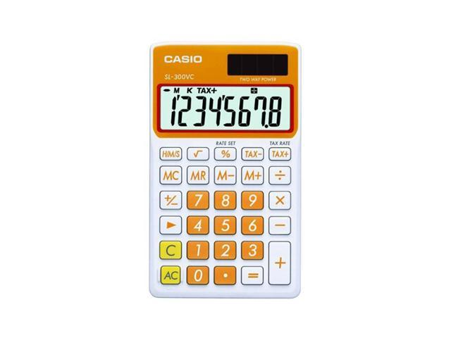 Casio SL-300VC-OE Big Display Calculator - Orange