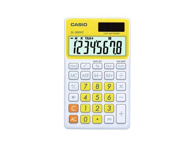 Casio SL-300VC-YW Big Display Calculator - Yellow