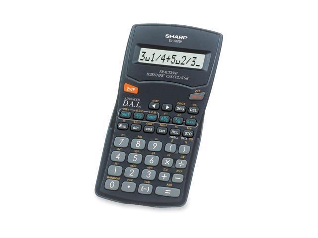 Sharp EL500WBBK EL-500WBBK Fraction/Scientific Calculator, 10-Digit LCD