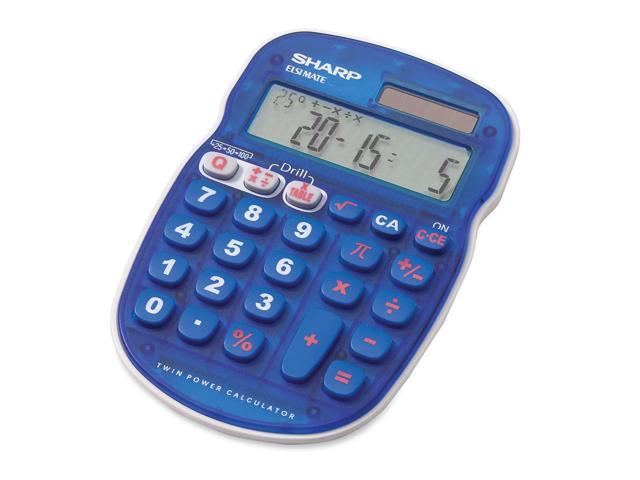 Sharp ELS25 Quiz Calculator10 Character(s) - LCD - Solar, Battery Powered