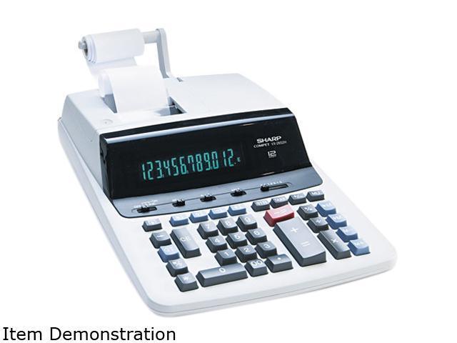Sharp VX2652H VX2652H Two-Color Printing Calculator, 12-Digit Fluorescent, Black/Red