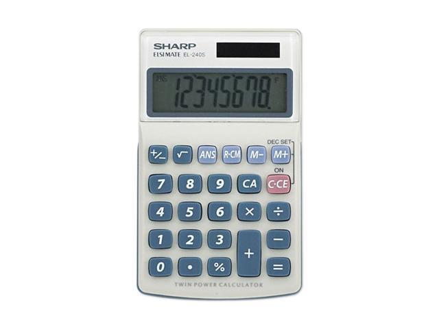 Sharp EL240SB EL240SB Handheld Business Calculator, 8-Digit LCD