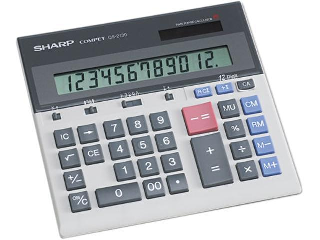Sharp QS2130 QS-2130 Compact Desktop Calculator, 12-Digit LCD