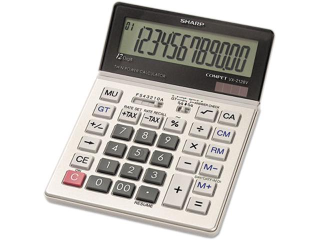 Sharp VX2128V VX2128V Commercial Desktop Calculator, 12-Digit LCD