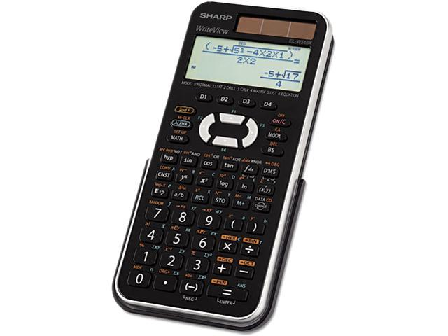 Sharp ELW516X Scientific Calculator 556 Functions - 4 Line(s) - 12 Character(s) - LCD - Solar, Battery Powered - 1.1