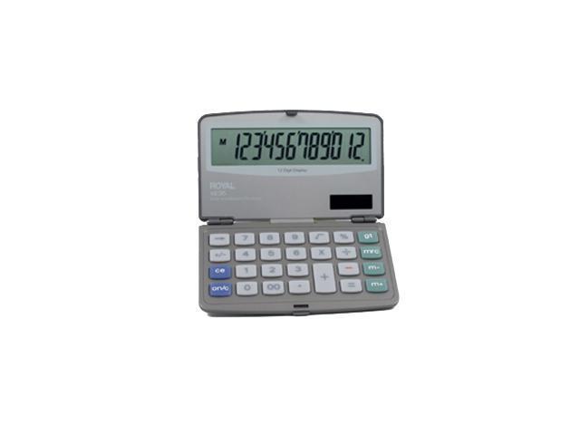 Royal 29305y Folding Solar 12-digit Calculator