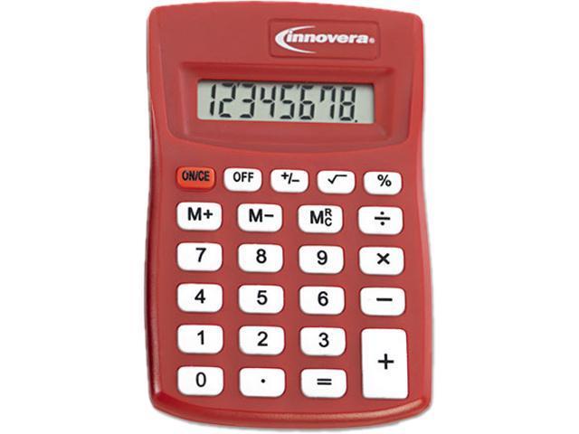Innovera 15902 15902 Pocket Calculator, Red