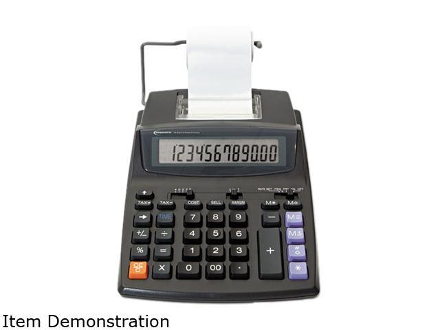 Innovera 16015 16015 Two-Color Roller Printing Calculator, 12-Digit LCD, Black/Red