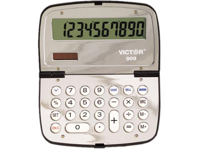 Victor 909 909 Handheld Compact Calculator, 10-Digit LCD