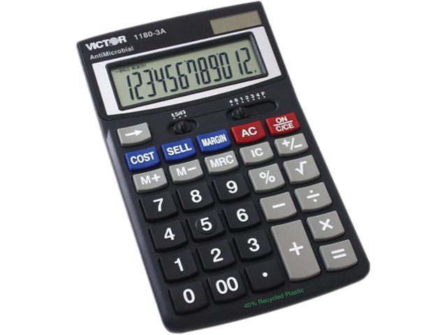 Victor 1180-3A 1180-3A Antimicrobial Desktop Calculator, 12-Digit LCD
