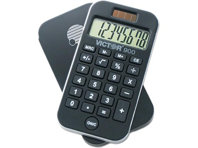 Victor 900 900 AntiMicrobial Pocket Calculator, 8-Digit LCD