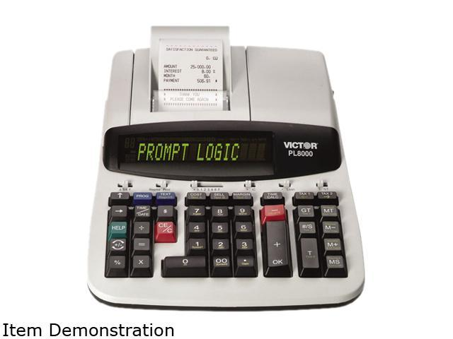 Victor PL8000 PL8000 1-Color Prompt Logic Printing Calculator, 14-Digit Dot Matrix, Black
