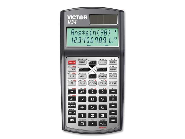 Victor V34 V34 Advanced Scientific Calculator, Black/Gray
