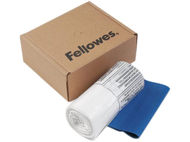 Fellowes 36052 Powershred Shredder Bags, 10 gal. Capacity, Clear, 100 Bags & Ties/Carton
