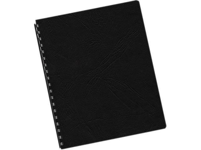 52138 Fellowes Classic Grain Texture Binding System Covers, 11-1/4 x 8-3/4, Black, 200/Pack