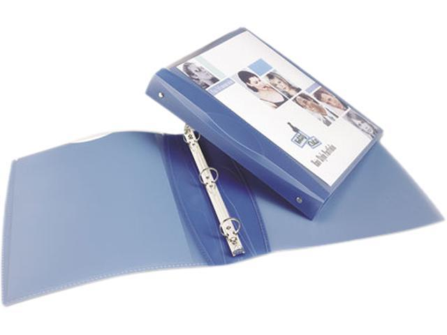 "Avery 17231 Silhouette Flexible Poly Round Ring View Binder, 1"" Capacity, Light Blue"