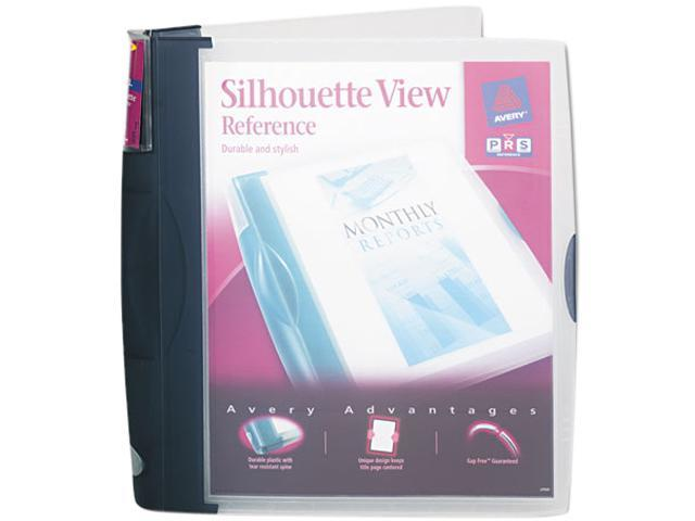 "Avery 17332 Silhouette Poly View Binder w/Inside Pocket, 1"" Capacity, Dark Blue"