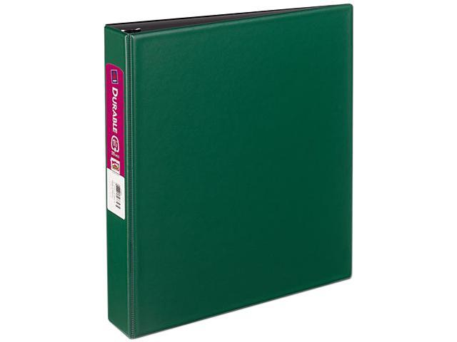"Avery 27353 Durable EZ-Turn Ring Reference Binder, 11 x 8-1/2, 1-1/2"" Capacity, Green"
