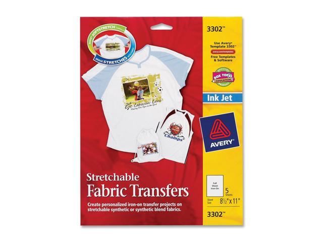 Avery 3384 Printable Fabric For Inkjet Printers 8 1 2 X