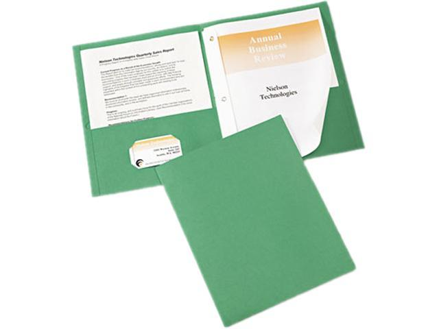 Avery 47977 Paper Two-Pocket Report Cover, Tang Clip, Letter, 1/2