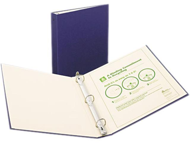 "Avery 50005 Recyclable Ring Binder With EZ-Turn Rings, 1-1/2"" Capacity, Blue"
