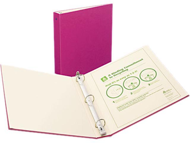 """Avery 50007 Recyclable Ring Binder With EZ-Turn Rings, 1-1/2"""" Capacity, Red"""