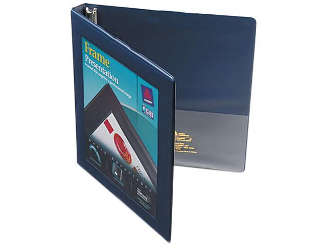 "Avery 68051 Framed View Binder With Slant Rings, 1/2"" Capacity, Navy Blue"