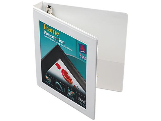 Avery 68056 Framed View Binder With One Touch Locking EZD Rings, 1