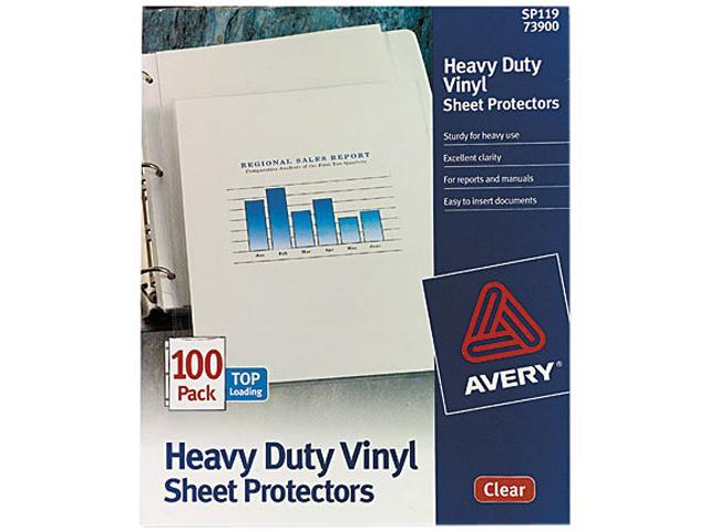 Avery 73900 Top-Load Vinyl Sheet Protectors, Heavy Gauge, Letter, Clear, 100/Box