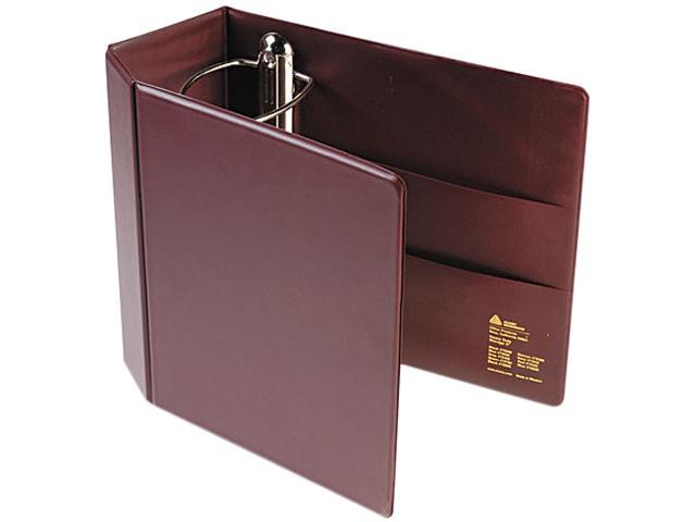 "Avery 79366 Heavy-Duty Vinyl EZD Reference Binder With Finger Hole, 5"" Cap, Maroon"