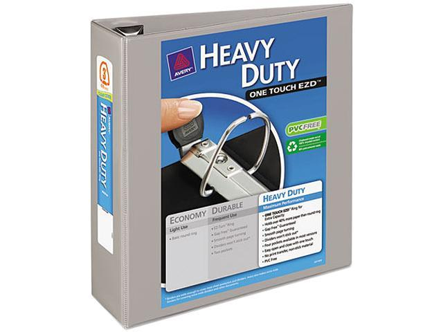 "Avery 79403 Nonstick Heavy-Duty EZD Reference View Binder, 3"" Capacity, Gray"