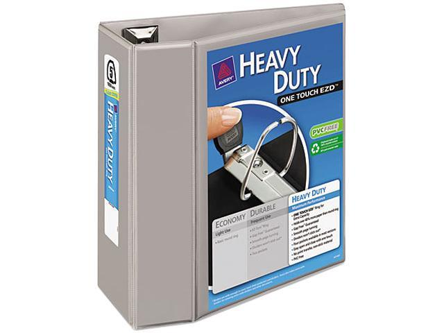 "Avery 79406 Nonstick Heavy-Duty EZD Reference View Binder, 5"" Capacity, Gray"