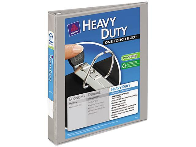 "Avery 79409 Nonstick Heavy-Duty EZD Reference View Binder, 1"" Capacity, Gray"